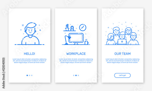 Vector Illustration Web Designs: Vector Illustration Of Onboarding App Screens And Web