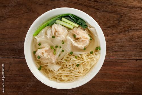Chinese wonton soup noodle