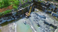 Flying Over The Stone Quarries...