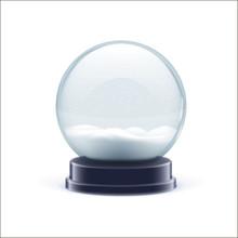 Snow Globe Ball Realistic Chri...