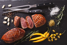 Roast Duck Fillet With Herbs A...
