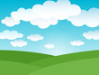 Landscape background with clouds