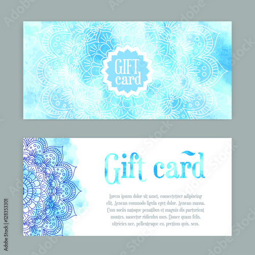 Template Gift Cards Ornament Vector Illustration Traditional Islamic Arabic Indian Cover Elements Decorative Retro Card For Print Or Web Design Spa Salon Yoga Studio Buy This Stock Vector And Explore Similar