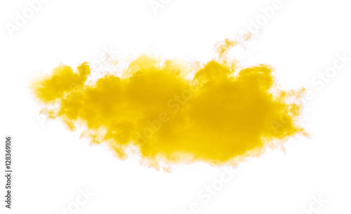 yellow clouds on white background