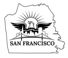San Francisco Map. California. San Francisco. USA. Oakland Bay Bridge. San Francisco-Oakland Bay Bridge. San Francisco Business Center