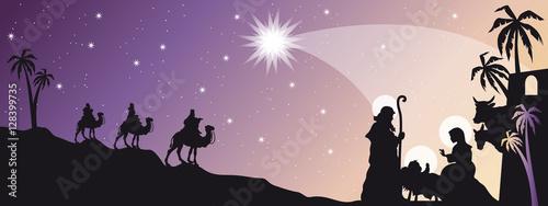 Billede på lærred Header with Nativity