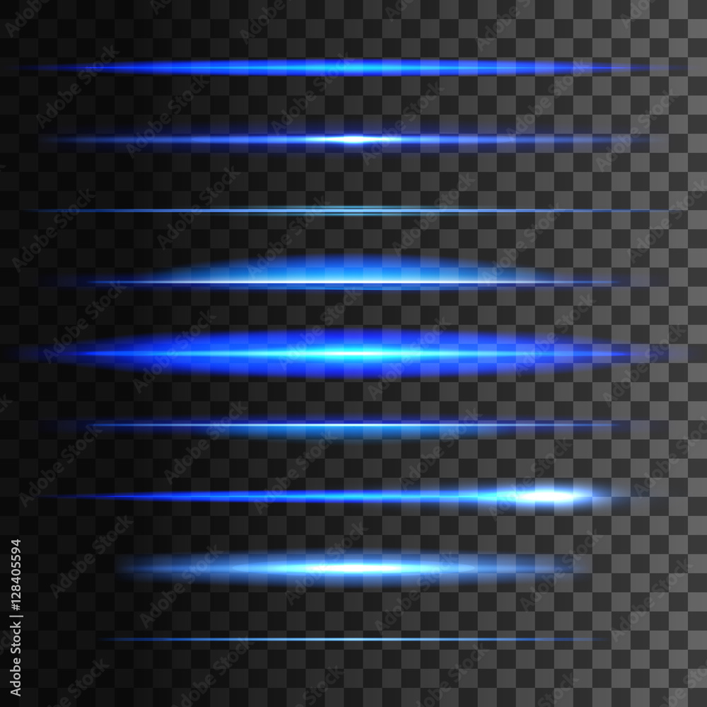 Fototapety, obrazy: Glowing light lines. Vector light glow effect