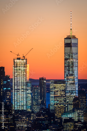 Freedom Tower (One World Trade Center) together with Two World Trade Center Plakat