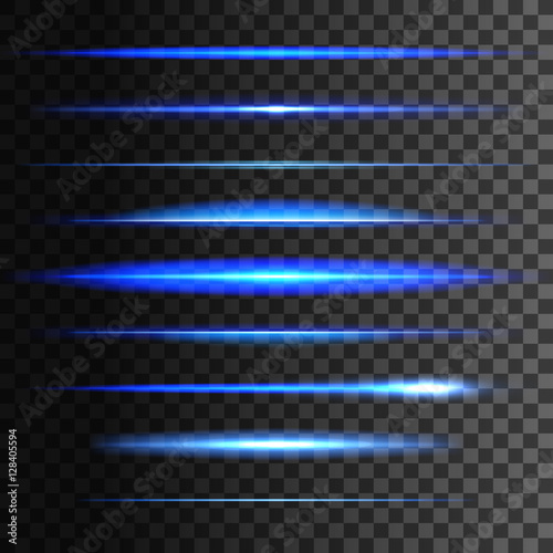 Fototapeta Glowing light lines. Vector light glow effect obraz