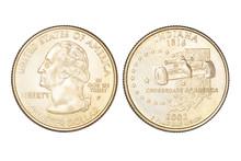 Quarter Dollar Isolated