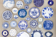 Porcelain Plates Placed On The...