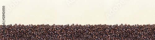 coffee beans on paper texture