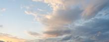Beautiful Sunset Sky And Cloud At Twilight Time