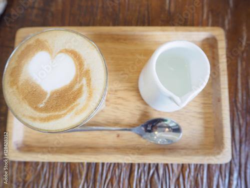 Fotografie, Obraz  Piccolo latte coffee, signature cup. A ristretto shot (15 – 20