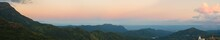 Khao Kho Mountain At Sunset, Phetchabun Province, Thailand (pano