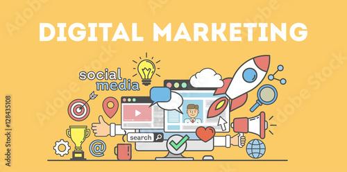Fotografie, Obraz  Digital marketing concept
