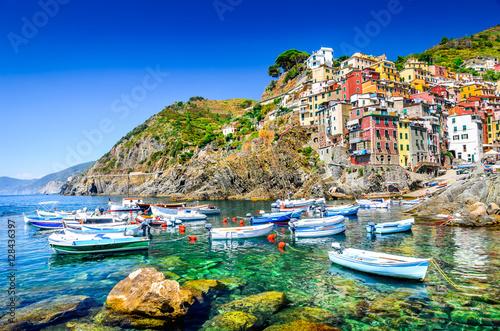Foto op Canvas Liguria Riomaggiore, Cinque Terre, Italy