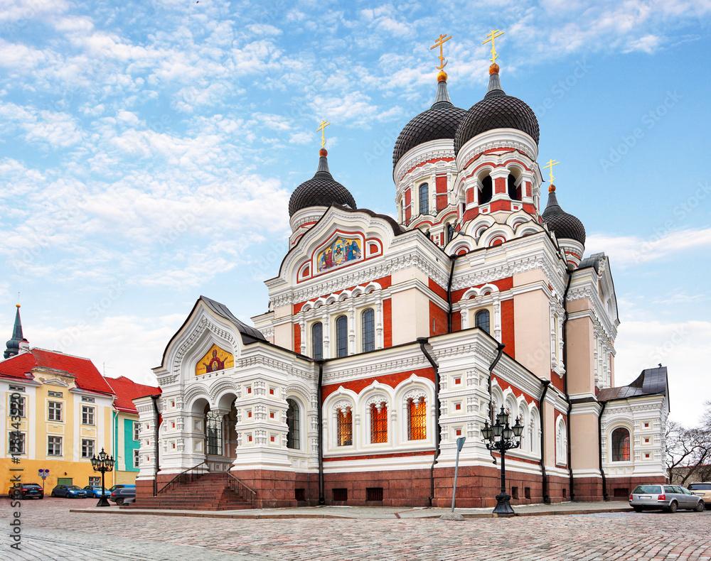 Fototapety, obrazy: Alexander Nevsky Cathedral in Tallinn Old Town, Estonia
