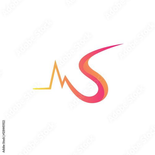 N Surat Multiply Colorful Bayangan Logo Buy This Stock