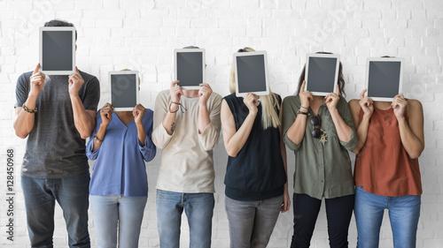Fotografía  Business People Using Digital Tablet Social Concept