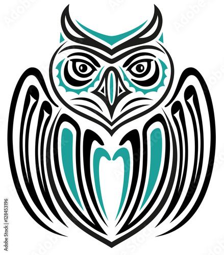 Große Eule Im Haida Tattoo Style Indianer Buy This Stock