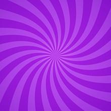 Swirling Radial Purple Pattern Background. Vector Illustration