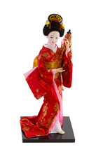 Doll Japanese Woman In Traditional Clothes