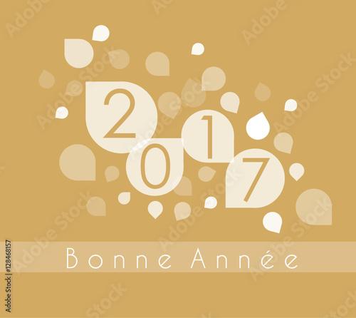 Carte Or Bonne Année 2017 Fototapete