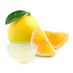Lemon with juice