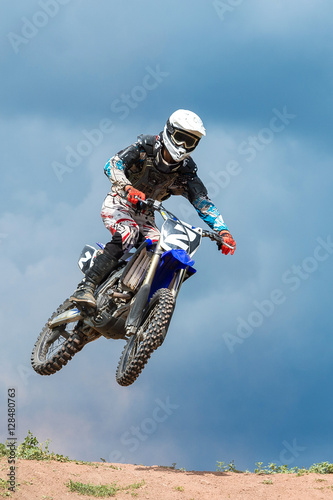Fototapeta Motocross high jump