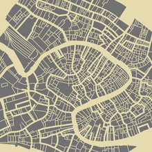 Venice Vector Map. Monochrome ...