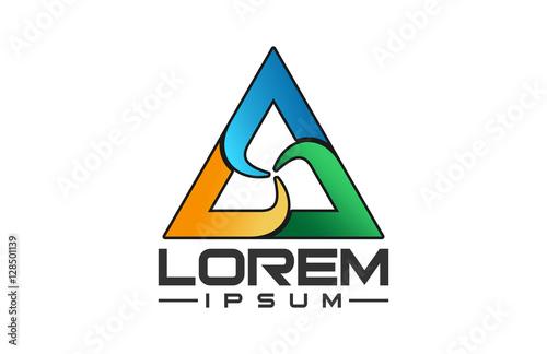 Photo  colorful triangle circle logo