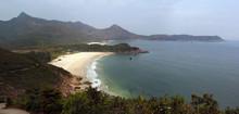 Panorama Of Tai Wan Beach, Sai Kung, Hong Kong. Part Of The Maclehouse Trail, Popular Hiking Route.