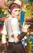 Steampunk Girl Captain