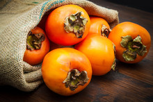 Delicious Fresh Persimmon Frui...