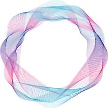 Abstract Circular Frame, Color...