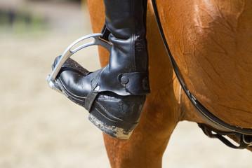 Jockey riding boot