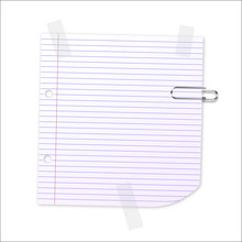 Vector Lined Paper