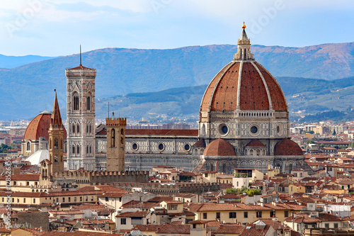 Ingelijste posters Florence city of FLORENCE with the great dome of the Cathedral
