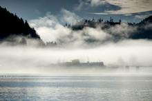 Alaska State Ferry In Fog, Wra...