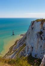 Beachy Head Lighthouse, Dover White Cliffs, England
