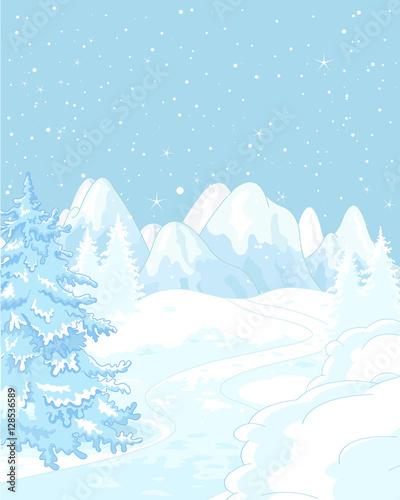 Printed kitchen splashbacks Fairytale World Winter landscape