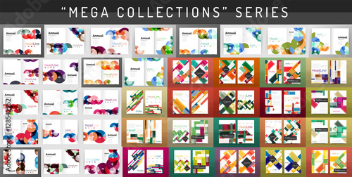 Foto  Mega collection business annual report brochure templates