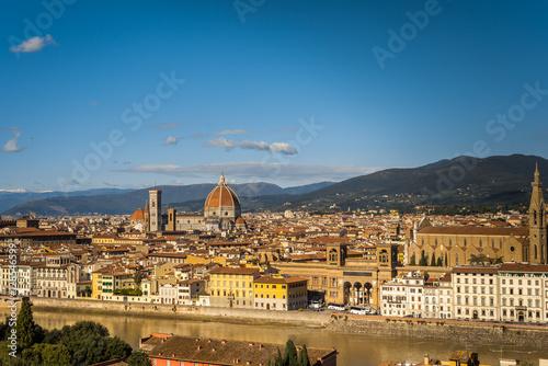 Naklejka premium Krajobraz Florencja Toskania