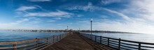 A Panoramic View Of Oceanside In The Morning
