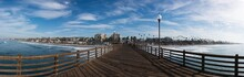 A Closer Panoramic View Of Oceanside From The Pier
