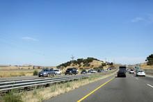 California Highway Traffic. US...