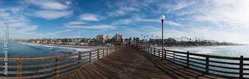 Fényképezés  A Closer Panoramic View of Oceanside from the Pier