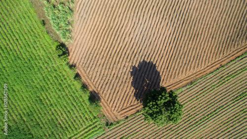 Aerial View Of Farmland, drone view of farmland landscape nature