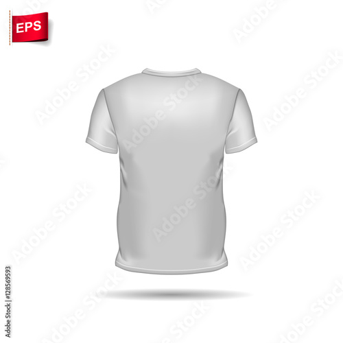T-shirt template view. Vector eps 10 illustration. - Buy this stock ...